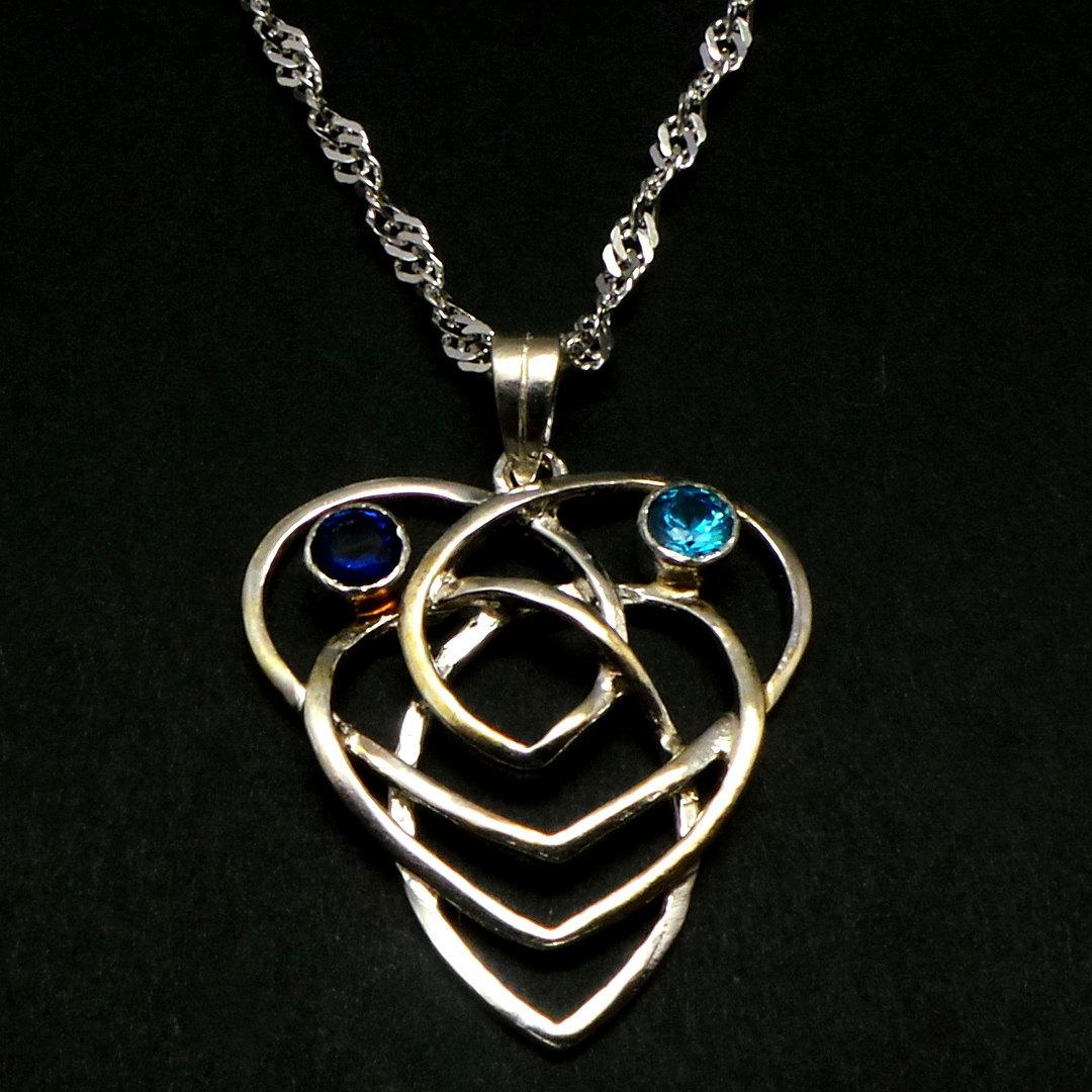 Celtic Knot Heart Motherhood Necklace