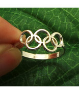 925 Handmade Sterling Silver Olympic 2016 Rio Ring - US Sizable from 4 - 14 - $32.00