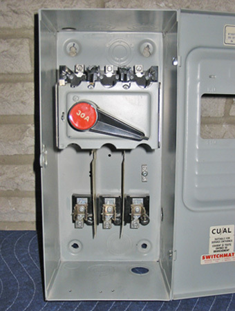 FPE 30 AMP, 600 VAC, 3 PHASE FUSED DISCONNECT SWITCH (Cat No. 1336) ~ MINT/RARE!
