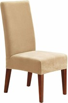 Sure Fit Stretch Pique Short Dining Chair Slipcover-Cream T410913 - $14.84