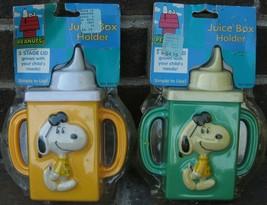 Vintage Danara Snoopy Joe Cool Juice Box Holder Sippy Cup Baby Toddler P... - $28.07