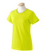 Safety green L G2000L Gildan Women ultra cotton high visibility tee G200... - $4.75