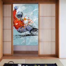 Waverly Kitchen Curtains Extreme Excitement Snowboarding Fringe Door Curtain - $32.00