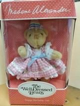 Madame Alexander The Well Dressed Bear Happy Birthday Girl New In Box - $24.74