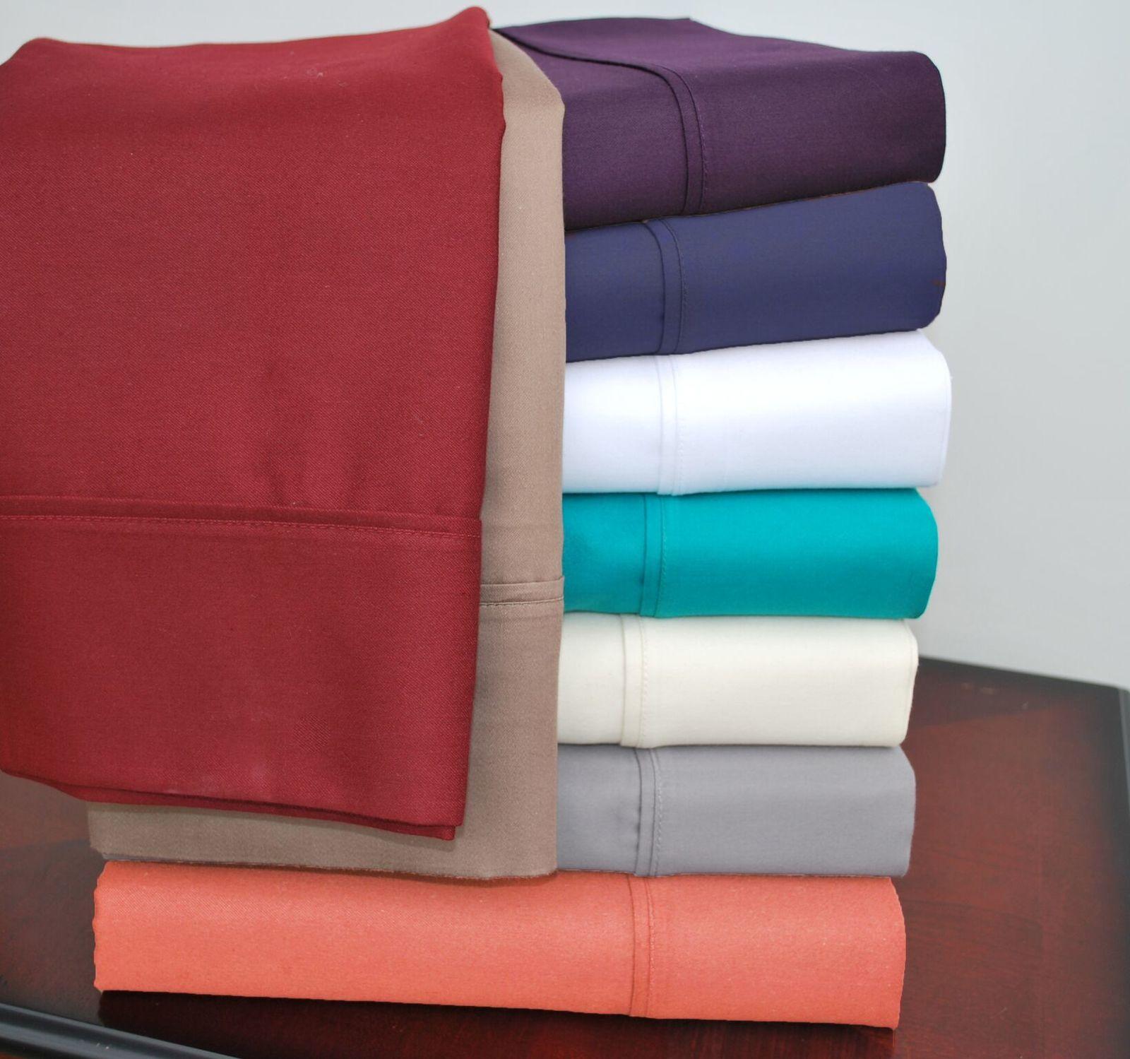 5-pc Split King Size Plum Impressions Cotton Rich 800 Thread Count Sheet Set