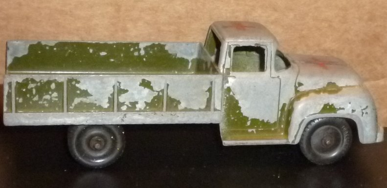 "Vtg TOOTSIETOY  toy Car  Pic-up truck Military (?) 6"" long"
