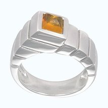 Aura 925 Sterling Silver Citrine Gemstone Ring (SR00255) - £29.54 GBP