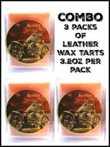 COMBO 3 Packs of Leather 3.2 Ounce Pack of Soy Wax Tarts (6 Cubes Per Pa... - £6.33 GBP