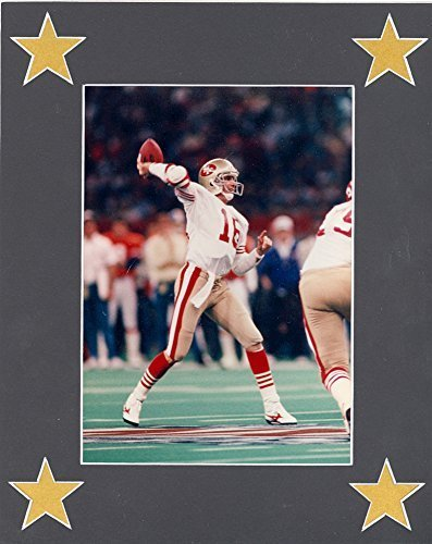 Joe Montana Matted Photo Ready for Framing and Display - Photo is 5x7 Mat is 8x1