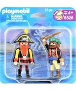 Playmobil 5826 Pirates Captain Red Beard & Corsair Duo Pack 13 Piece Fre... - $14.84