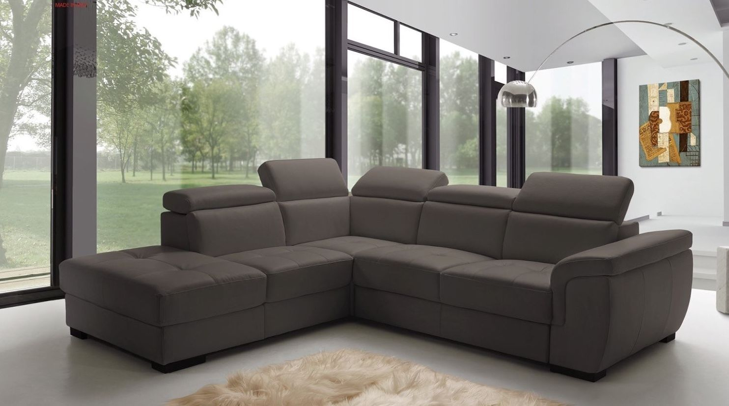 ESF Freedom Fabric Sectional Sleeper Sofa Modern Left Hand Facing
