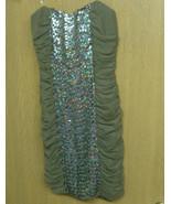 NEW AS U WISH JUNIOR JUNIORS SIZE MEDIUM M 7-9 TAUPE STRAPLESS DRESS PRO... - $10.99