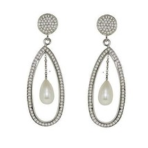 925 Sterling silver earring unique design fresh water pearl gemstone SHER0248 - $37.21