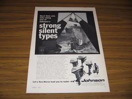 1967 Print Ad Johnson Sea-Horse Outboard Motors 5 Models Shown - $15.08