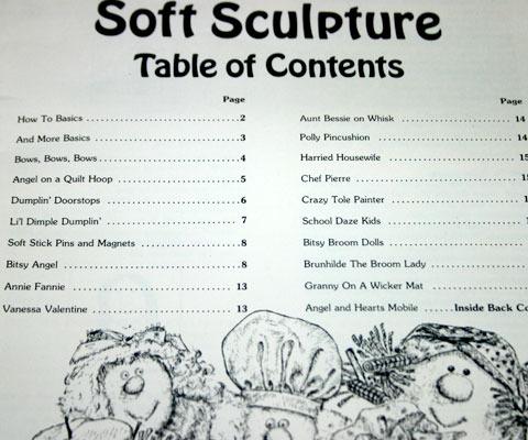 Vintage Apple Dumplings Soft Sculpture Craft Pattern Book