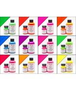 Neon Paint 12 Colors Angelus Acrylic Leather /Vinyl Paint /Dye Waterproo... - $7.49