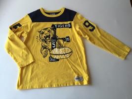 Oshkosh B'Gosh Boys Long Sleeve Cotton Shirt TIGERS size 8 mint Navy Yellow - $19.29