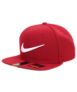 Nike SWOOSH PRO Snapback Adjustable Hat Cap Red... - $32.91