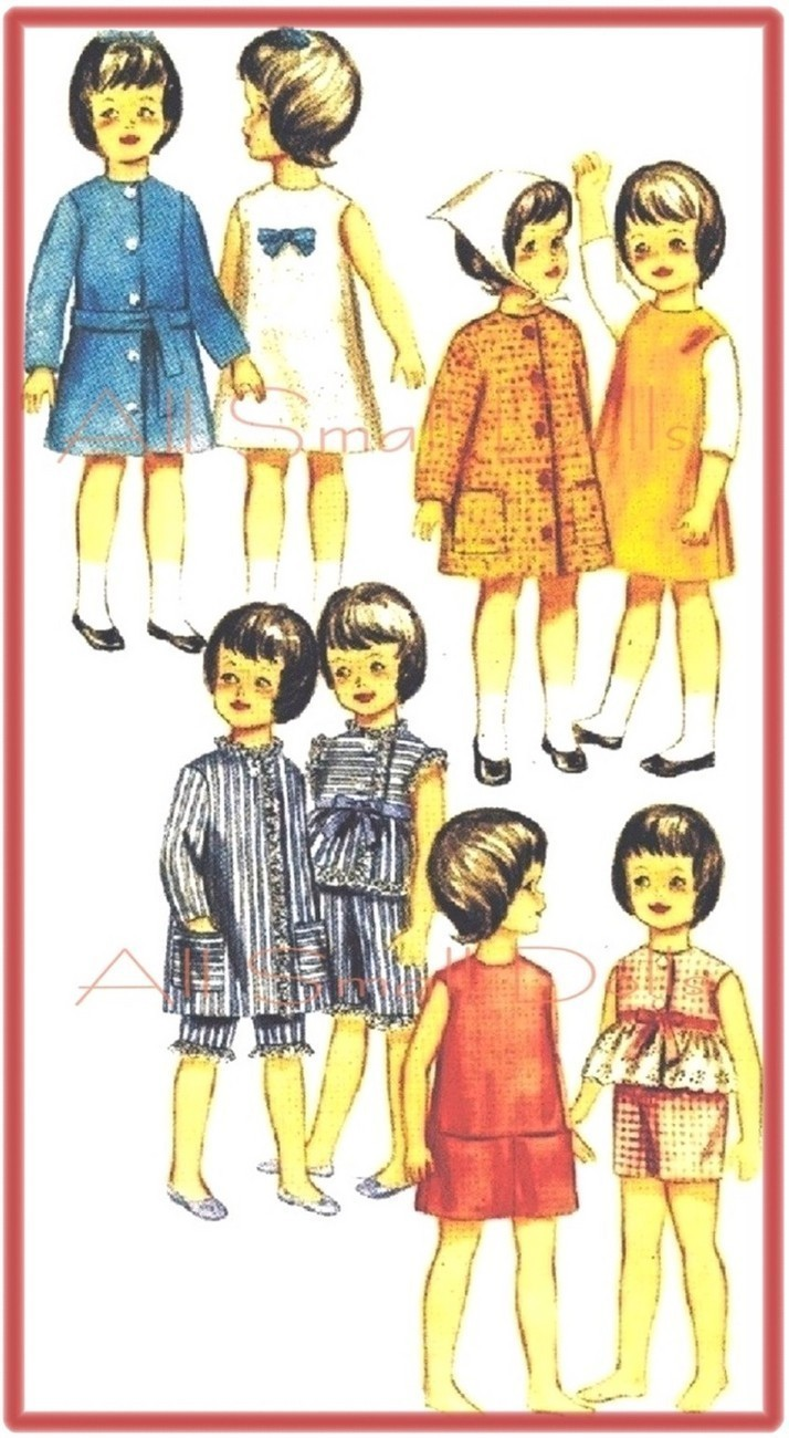 "Primary image for Vintage Doll Clothing Pattern for 9 1/2"" Skipper No. 2"