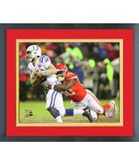 Justin Houston 2018 AFC Divisional Playoff Game -11x14 Matted/Framed Photo - $43.55