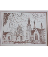 Marquette University Print Matted Monochrome by J Andres - $7.99