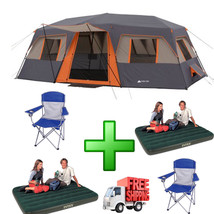 12 Person Tent Family 10 Camping 3 Room Hiking ... - $322.68
