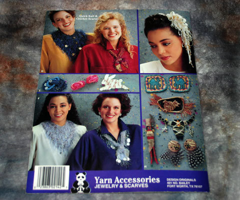 Yarn Accessories Jewelry and Scarves Instruction Pattern Book No. 2142