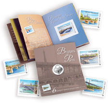 Bridges of Paris France Stamps Mini Folder Mint NH Adhesives Postage Stamps - $21.77