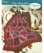 Needlecraft Shop Crochet Pattern 952170 Crazy Patch Afghan Collectors Series - $4.99