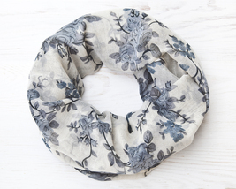 Floral Scarf Gifts for Women Infinity Scarf Beautiful Scarf Mom Gift - £11.36 GBP