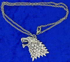 Stark Direwolf Necklace Game of Thrones Wolf Head Chain Style Length Choice - $4.99+