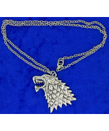 Stark Direwolf Necklace Game of Thrones Wolf He... - $4.99 - $6.49