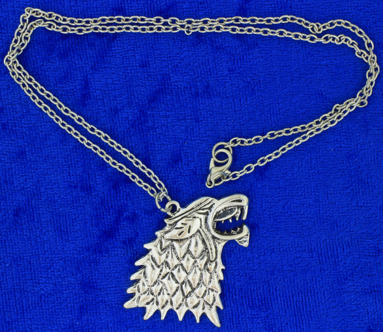 Stark Direwolf Necklace Game of Thrones Wolf Head Chain Style Length Choice
