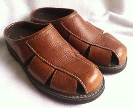 Eastland Womens 7 M Brown Leather Clog Sport Sa... - $21.99