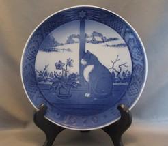 Royal Copenhagen Julerose Og Kay Christmas Rose and Cat Collector Plate ... - $5.69