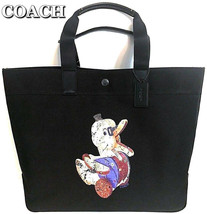 COACH Black Tote Bag Ltd Dr. Doodle Duck Multipurpose Travel Bag NWT - $193.05