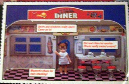 dixies diner tyco playset wdollcounterstools nrfb