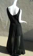 Yaya Nom De Plume Dress Anthropologie Black Maxi Sheer Dress Size S - $46.50