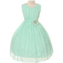 Mint Yoryu Chiffon Flower Girl Dresses Birthday Party Pageant Wedding Bridesmaid - $38.00
