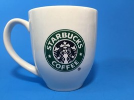 Starbucks Coffee Cup White Green Siren 2006 ceramic mug Classic Logo 2 sides - $23.36