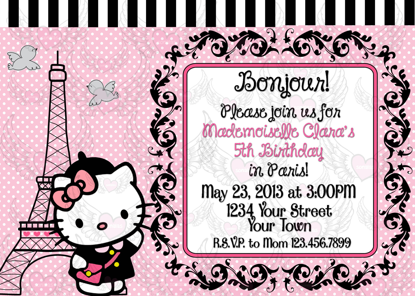 hello kitty parisian paris girl invitation and 50 similar items hello kitty parisian paris girl invitation