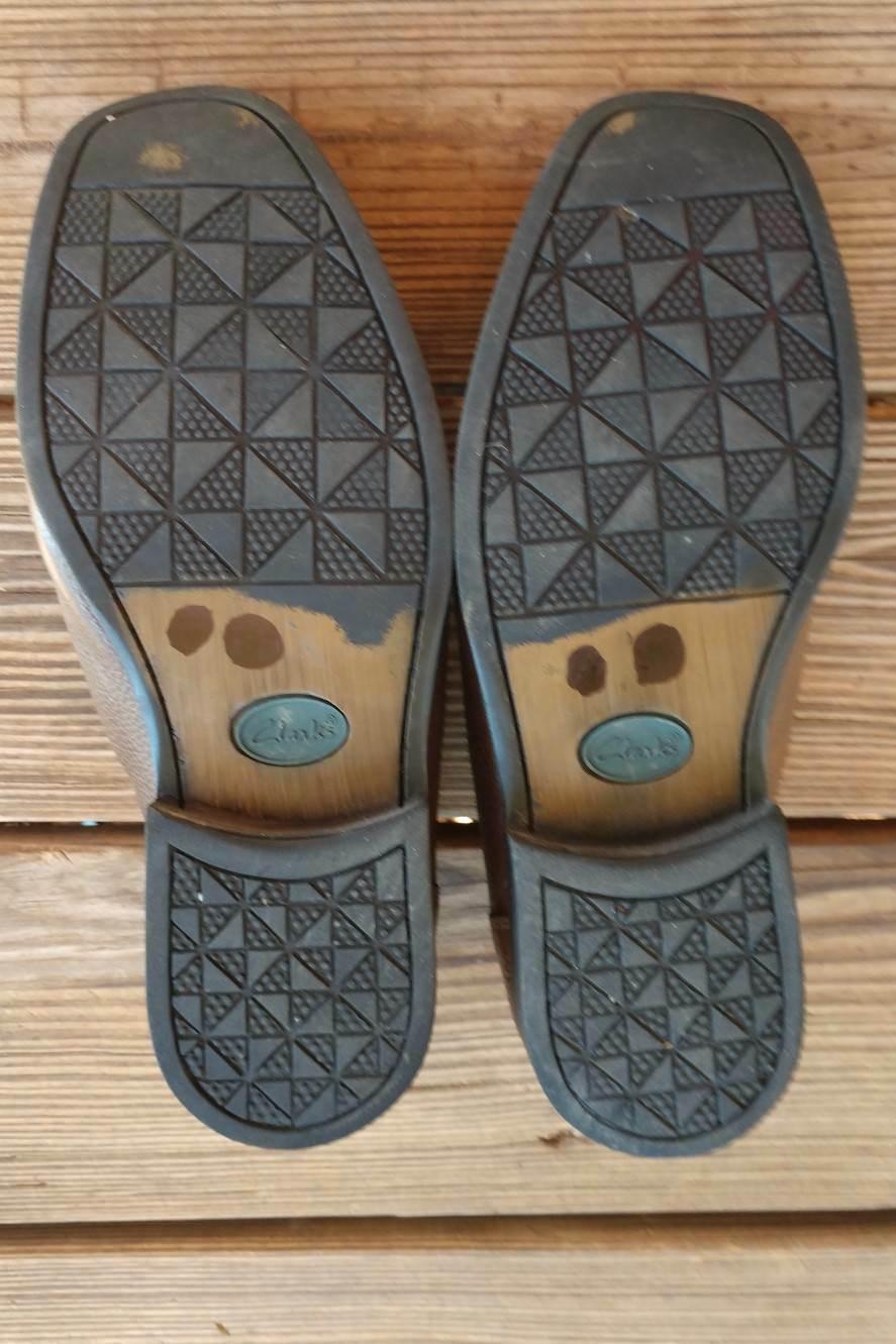 Clarks Size 10.5 Shoes Men's Wavewalk Brown Leather Slip On Loafer Boat Shoe