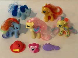My Little Pony G4 2010 Lot Rainbow Dash Fluttershy Sunset Shimmer Yellow... - $49.99