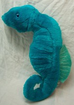"Wildlife Artists 1993 BRIGHT TURQUOISE SEA HORSE 11"" Plush STUFFED ANIMA... - $19.80"