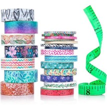 Cute Washi Tape Set with 3 sizes | 15mm 8mm and 3mm Wide Skinny and Thin... - £9.52 GBP
