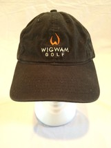 Wigwam Golf Resort Black Hat Embroidered Logo Legendary Headwear Adj Strap - $14.84