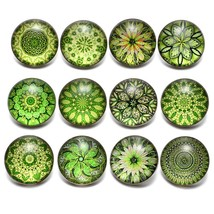 12pcs/lot Green Series Theme Beautiful Exotic Pattern 18mm Snap Button C... - $8.23