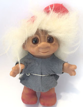 Vintage Dam Elf Troll Christmas 1980 24-4 Mohair Red Hat Original Outfit... - $58.79