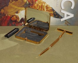 1970s Gold ToneTravel Set Safety Razor W Cartridge - $27.00