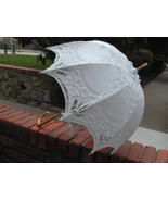 Stunning and Elegant Battenburg Lace Parasol - $41.00